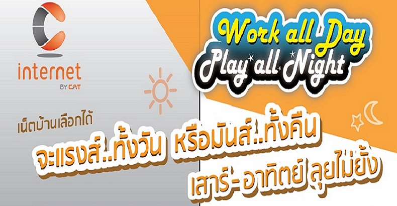 C internet Work all Day Play all Night