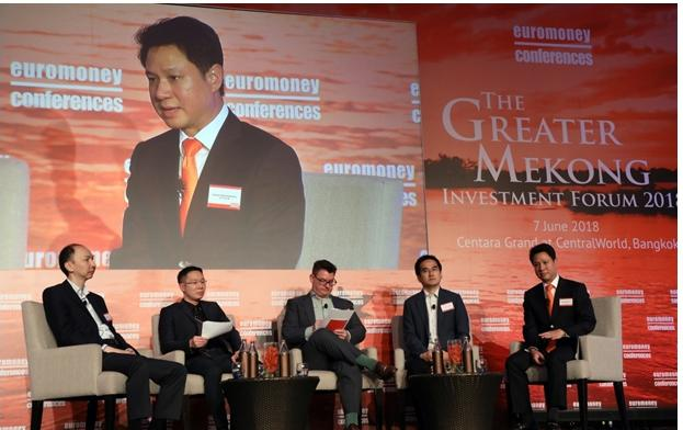 Euromoney hosted The Greater Mekong Investment forum 2018, analyzing CLMV investment trends and the growth of Thai capitals and businesses under Thailand 4.0