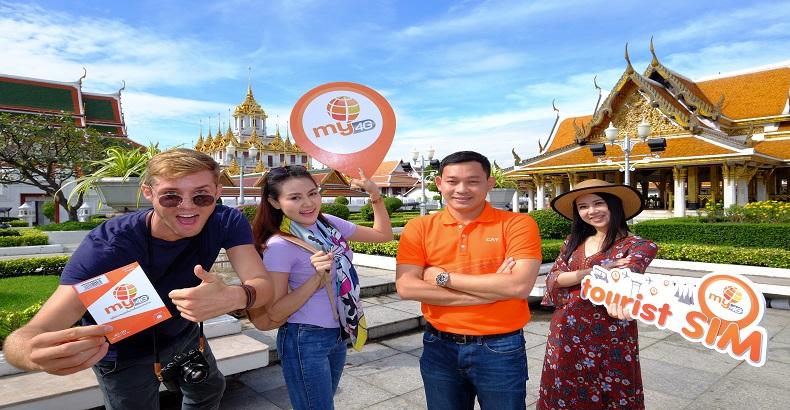 """my เจาะกลุ่มนักท่องเที่ยวต่างชาติ ออก """"my Tourist SIM"""" เที่ยวไทยสบาย ไม่พลาดทุกการติดต่อ"""